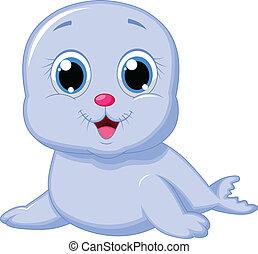 baby, cute, cartoon, lukke op