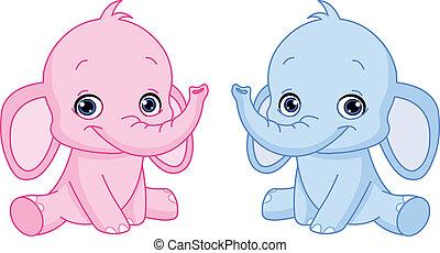 baby, elefanter