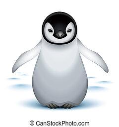 baby, liden, kejser pingvin