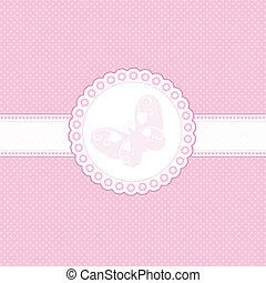 baby, lyserød baggrund