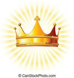 backgroun, gylden krone, glødende