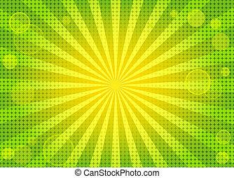 baggrund, abstrakt, grønne, klar, w
