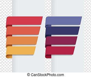 baggrund, bånd, sæt, transparent, farverig