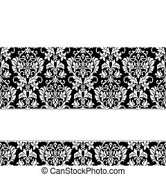 baggrund, bånd, vektor, hvid