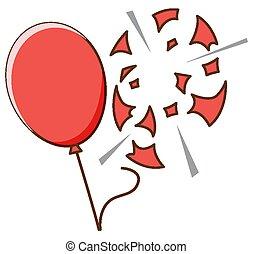 baggrund, balloner, hvid