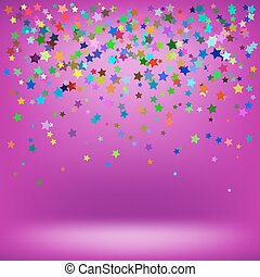 baggrund, farverig, lyserød, stjerner, sæt, blød