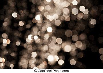 baggrund, guld, festlige, herskabelig, lys, abstrakt, baggrund., bokeh, defocused, stjerner, jul