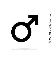 baggrund., hvid mandlig, ikon