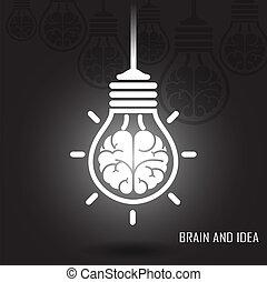baggrund, kreative, hjerne, mørke, ide, begreb