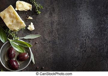 baggrund, mad