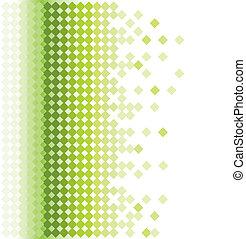 baggrund, mosaik, grønnes abstrakte