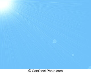 baggrund, og, himmel, sol