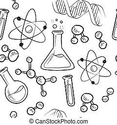 baggrund, seamless, videnskab