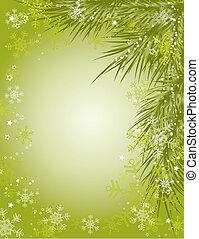 baggrund, vektor, jul