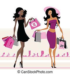 bags, indkøb, kvinder
