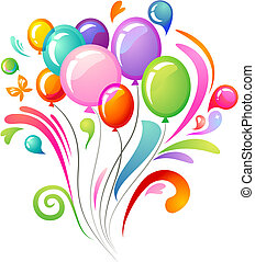 balloner, plaske, colourful
