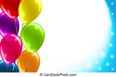 balloon, fødselsdag, baggrund
