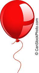 balloon, rød
