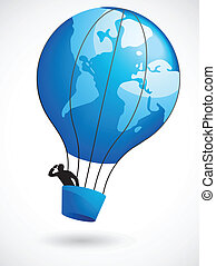 balloon, verden, luft