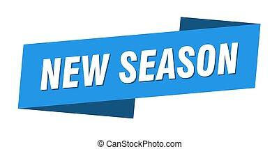 banner, bånd, template., mærkaten, sæson, etikette, nye, tegn.