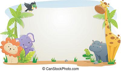 banner, safari, dyr