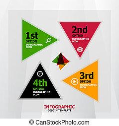 banner, væv, infographic, konstruktion, skabelon