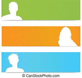bannere, avatar, folk