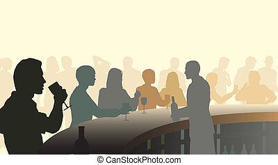 bar, vin