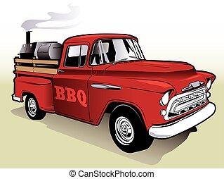 barbecue, lastbil
