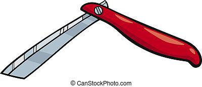 barberkniven, clips kunst, cartoon, illustration