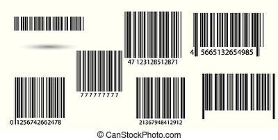 barcodes., sæt