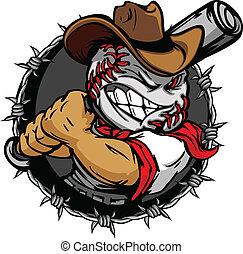 baseball, cowboy, holdin, cartoon, zeseed
