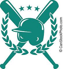 baseball, mesterskab, emblem