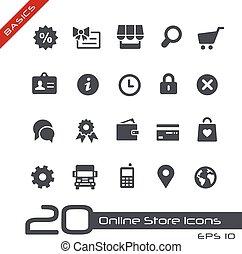 //, basics, online butik, iconerne