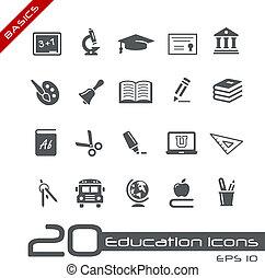 //, basics, undervisning, iconerne