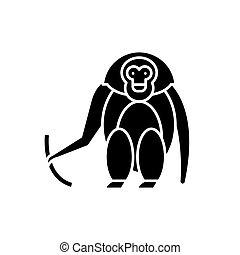 begreb, abe, isoleret, illustration, tegn, baggrund., vektor, sort, ikon, symbol