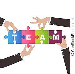 begreb, forsamling, hjælp, folk branche, opgave, teamwork