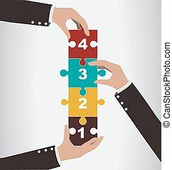 begreb, forsamling, hjælp, vertikal, folk, opgave, firma, teamwork