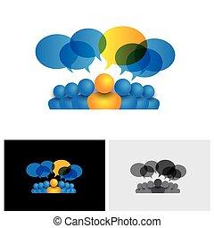 begreb, kontor, og, eller, driftsleder, vektor, ledelse, stab, leder, ikon
