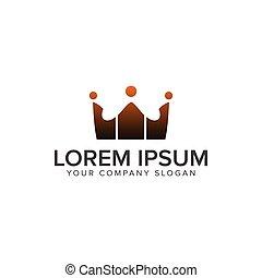begreb, logos., folk, kommunikation, bekranse, konstruktion, skabelon, logo, gruppe
