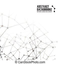 begreb, netværk, abstrakt, -, illustration, 002, vektor, forbinde, baggrund