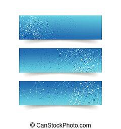 begreb, netværk, abstrakt, -, sammenhænge, sæt, baggrund, banner
