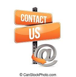 begreb, os, tegn, kontakt, konstruktion, illustration, online
