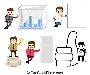 begreb, sæt, adskillige, cartoon, vectors
