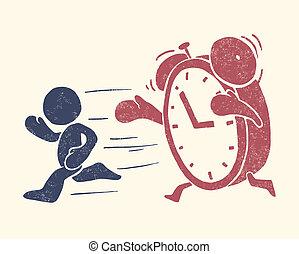begrebsmæssig, illustration, tid