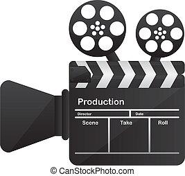 begrebsmæssig, kamera film, biograf