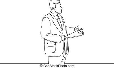 beklæde, tale, foran, singel, stram, gårdsplads, jury., fortsat, sagfører