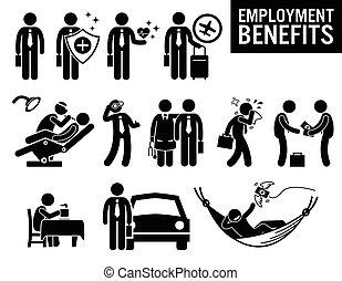 beskæftigelse, arbejde, gavner