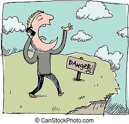 bevægelig telefoner., danger: