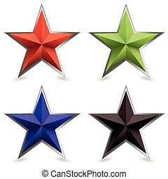 bevel, facon, metal, stjerne